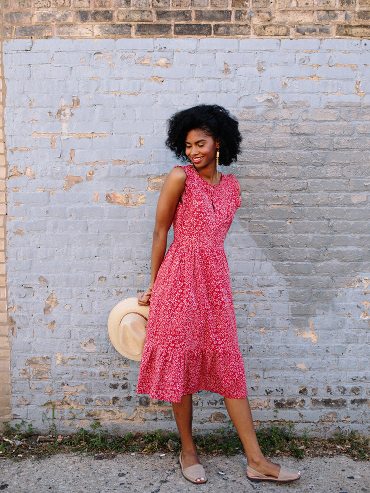 Ruffled Midi Shirtdress