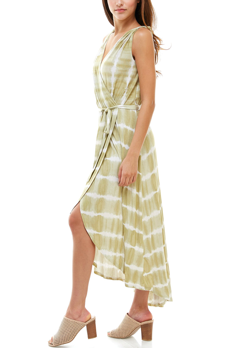 Tie Dye Midi Wrap Dress - Charming Charlie