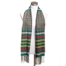 Load image into Gallery viewer, Winter Muffler Warm Scarf - Mega Plaid - Dark Forest