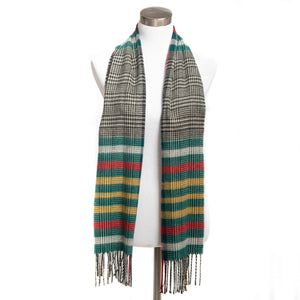 Winter Muffler Warm Scarf - Mega Plaid - Dark Forest