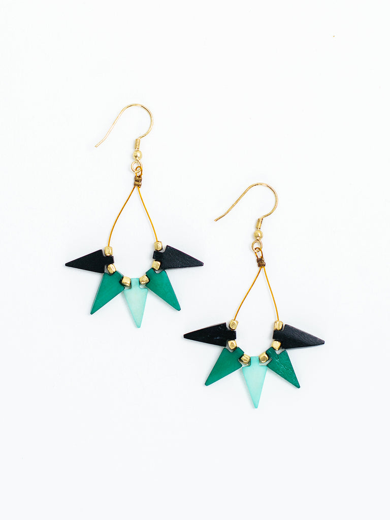 Farida Earrings, Turquoise