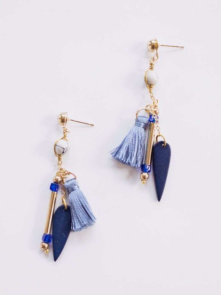 Palmetto Dangle Drops blue