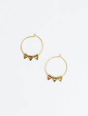 Zander Hoop Earrings Gold