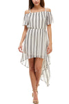 Off the Shoulder High Low Dress - Charming Charlie