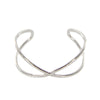 Hammered Metal Criss Cross Open Cuff Bracelet - Charming Charlie