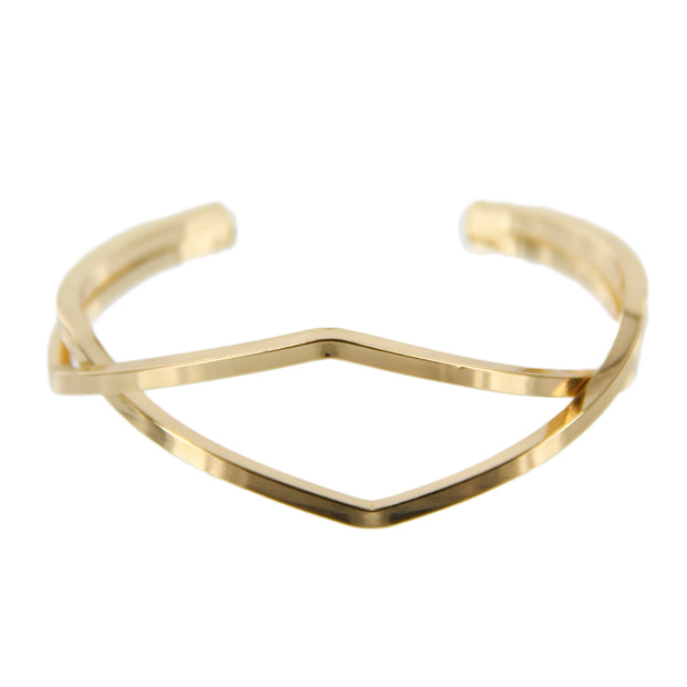 Metal Diamond Cutout Bracelet