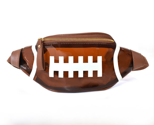 Clear Football Fanny Pack Belt Bag
