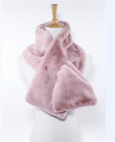 Fur Plush Inset Scarf
