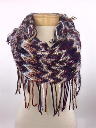 Cold Weather Scarf With Fringe