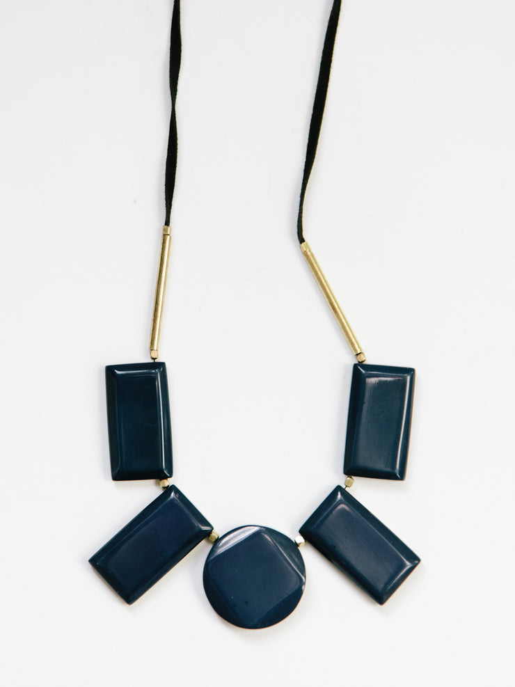 Edie Necklace, Navy