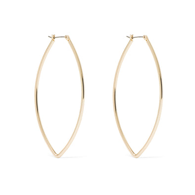NINE WEST GOLD OVAL POINTED HOOP