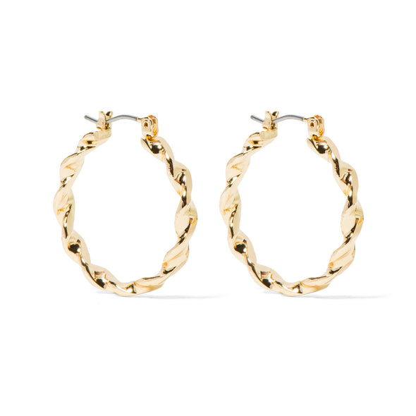 NINE WEST DS TWIST 25MM CLICK IT HOOP