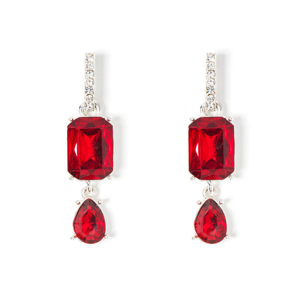 NINE WEST DS SIAM CRYSTAL DROP EARRINGS