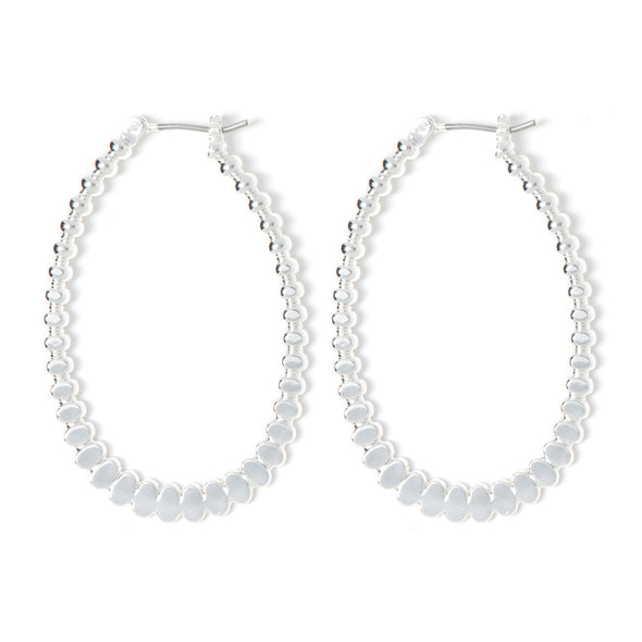 NINE WEST DS 34X45MM BEAD HOOP