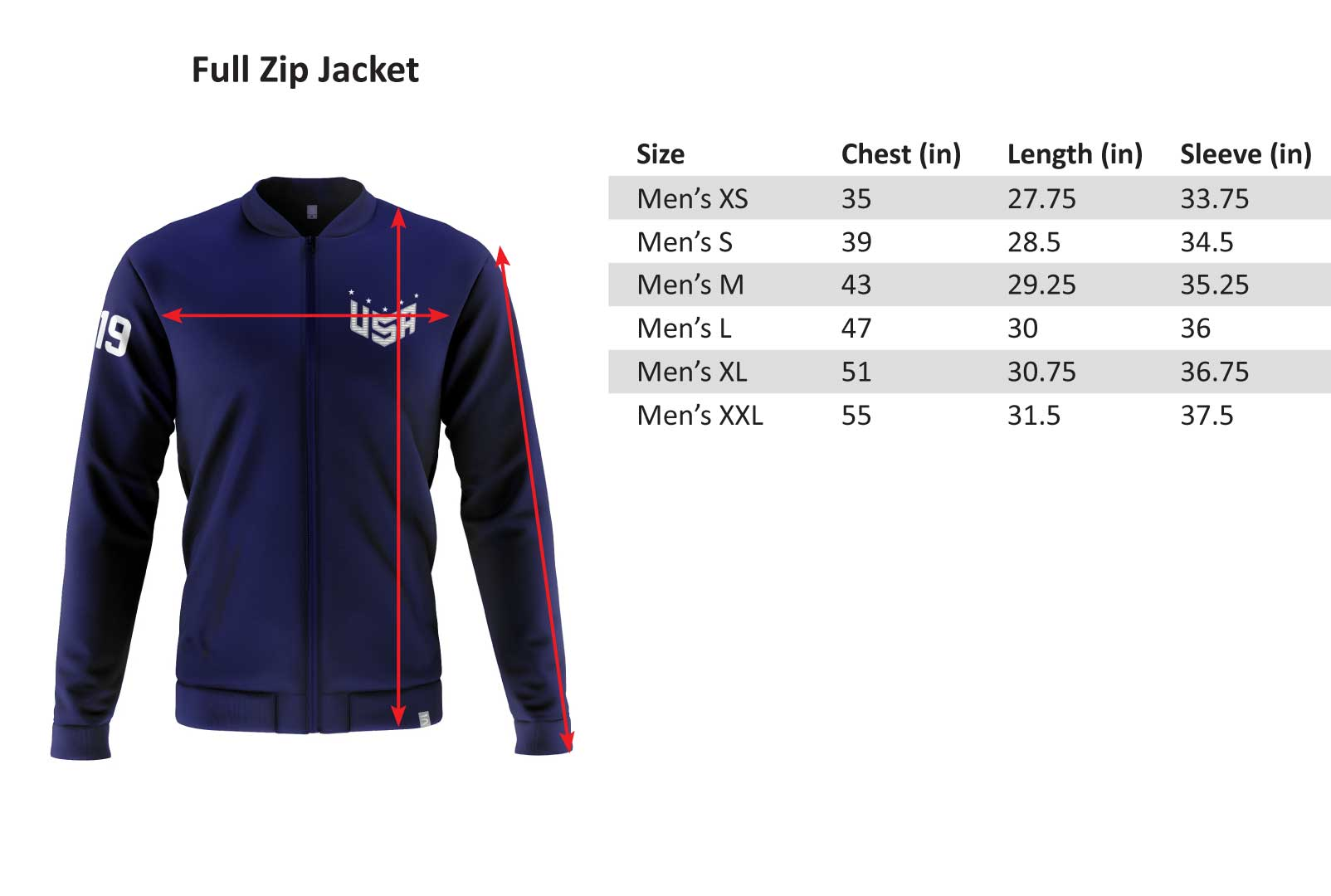 USNT Full Zip Jacket