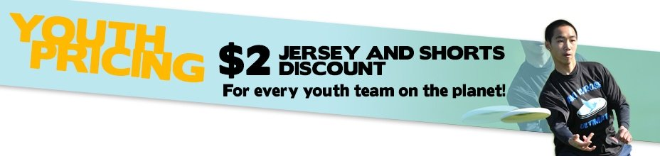Youth Team Pricing $2 Off Jersey And Shorts Discount For Every Youth Team