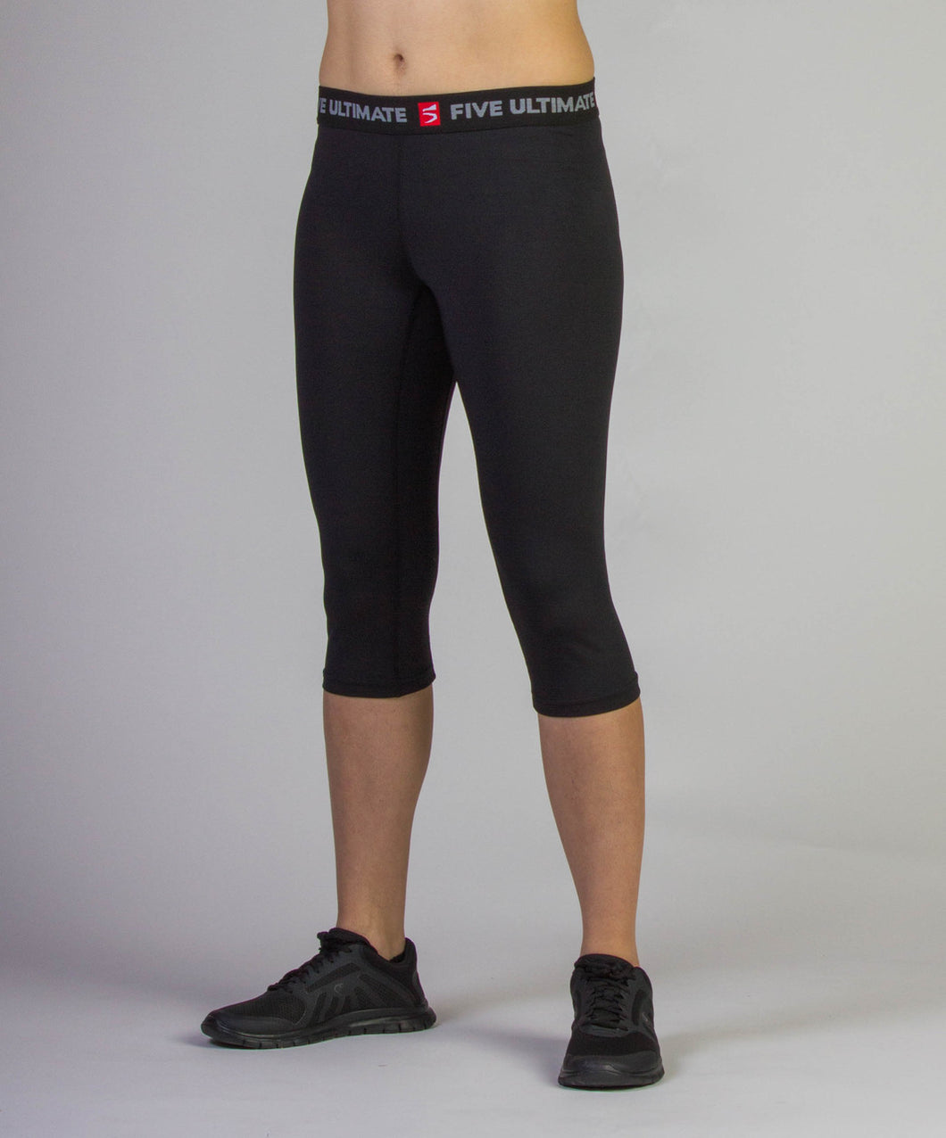 Black Flash 3/4 Compression Tights