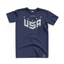 Load image into Gallery viewer, 2020 USNT Navy Heather Tee