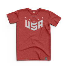 Load image into Gallery viewer, 2020 USNT Red Heather Tee