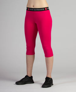 Fuchsia Flash 3/4 Compression Tights