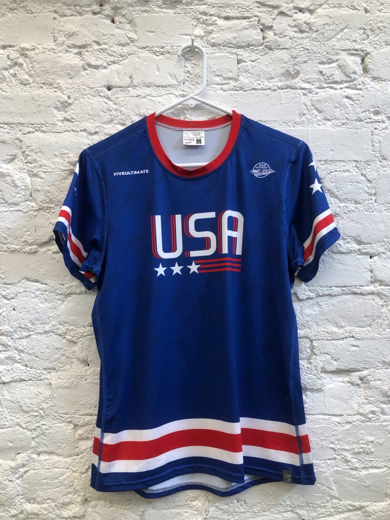 Blue USNT Sublimated Electro Jersey