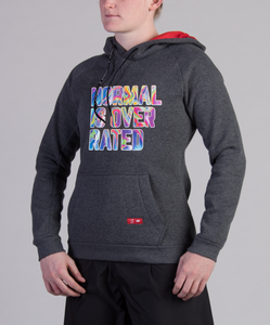 Normal is Overrated Fuzzy Hoodie (W)