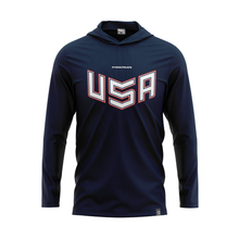 Load image into Gallery viewer, 2020 USNT Navy Training Sun Hoodie
