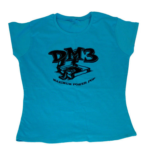 """maximum power pop"" blue girls t-shirt"