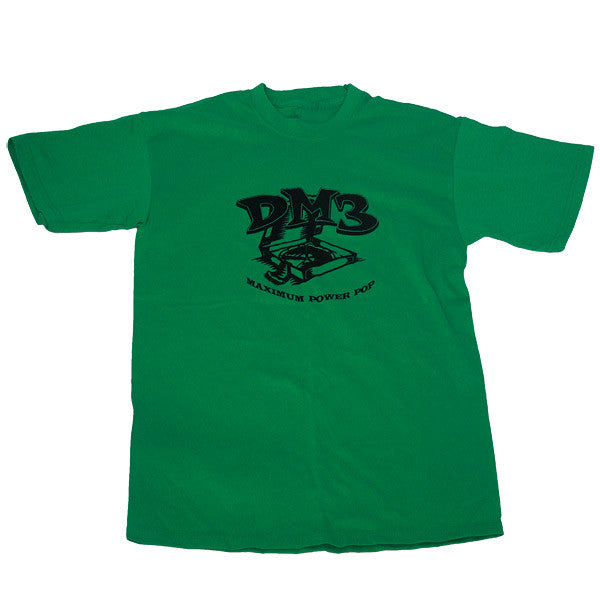 """Maximum Power Pop"" green t-shirt"