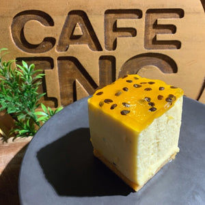 Passionfruit Cheese Cake (GF EF NF)