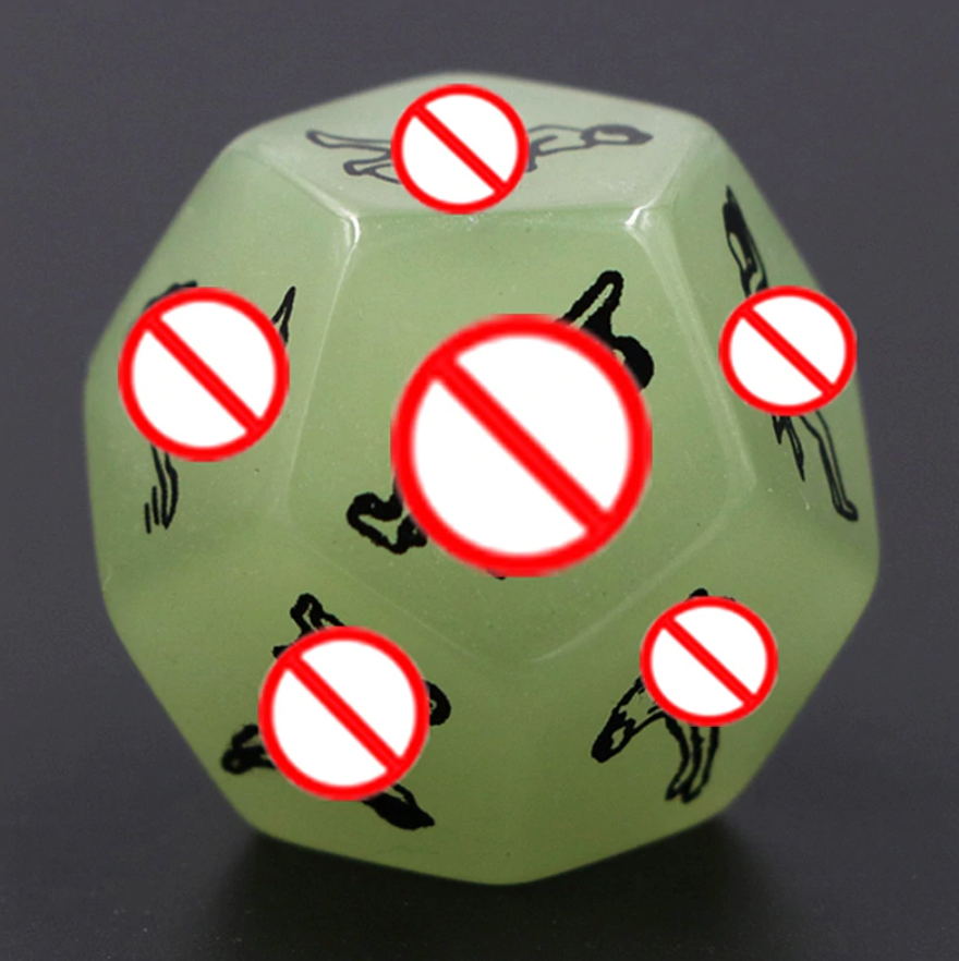 Freaky Glow Dice - Kama Sutra 12 sided Edition - (1 PCS)
