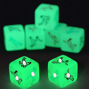 Freaky Glow Dice - Kama Sutra Edition - (2 PCS)