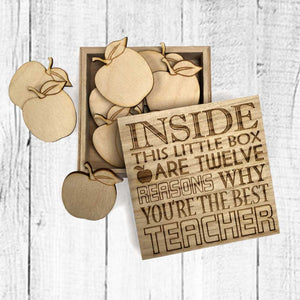 12 Reasons Why You're The Best Teacher Gift Keepsake Box