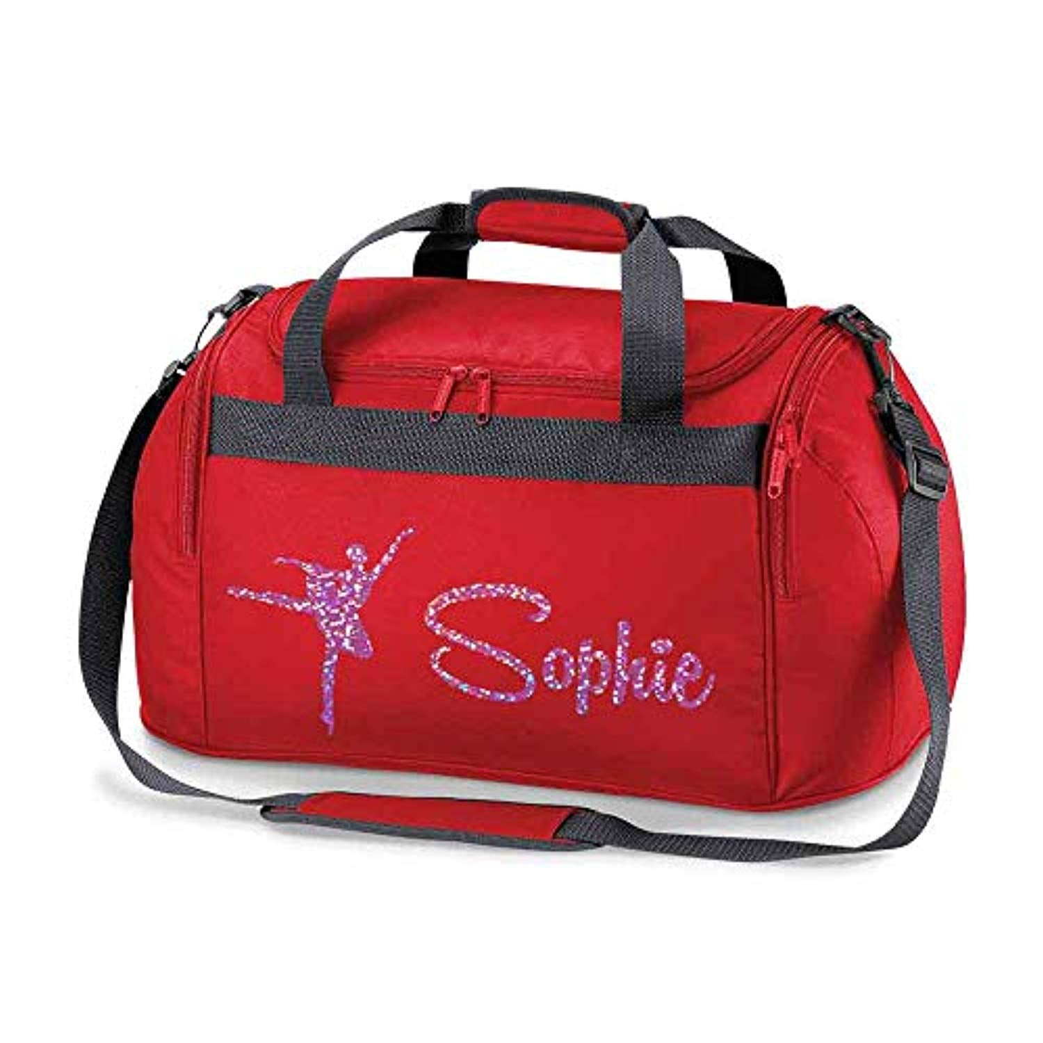 eaa7bb6a75 Personalised School Dance Gymnastic Shoulder Bag Holdall with Pink Spa –  Doodleman.co.uk