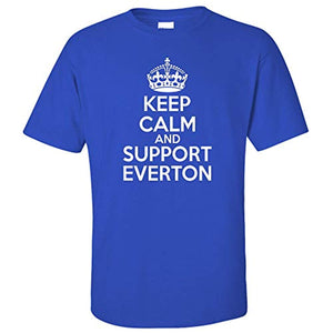 Keep Calm And Support Everton Men's Football Supporter T-Shirt Royal Blue