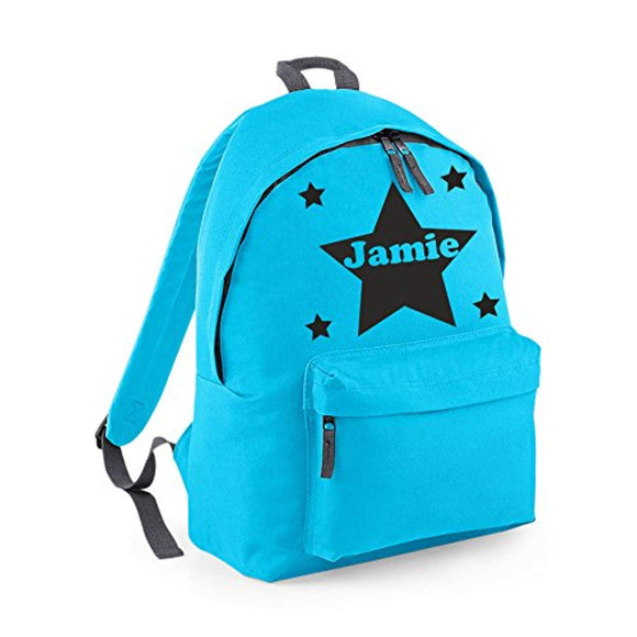 Personalised Star Design Child's Backpack School Bag