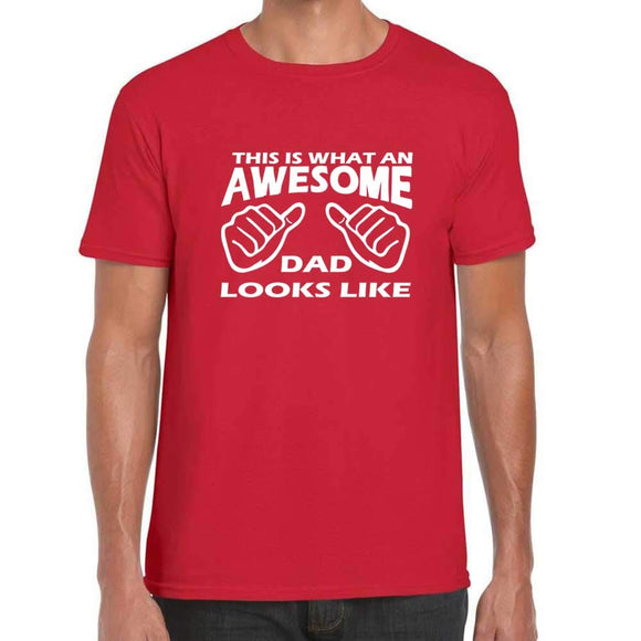 This is What an Awesome Dad Looks Like Thumbs Up T-Shirt
