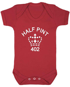 Half Pint Fun Baby Unisex Short Sleeve Baby Vest