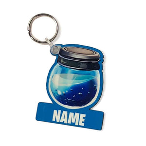 Personalised Fornite Inspired Potion Bottle Shaped Key Ring