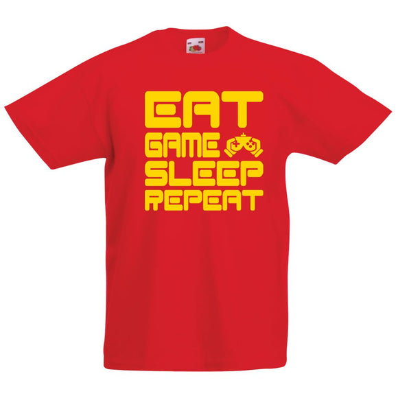 Child's Gamer T-Shirt Eat Game Sleep Repeat