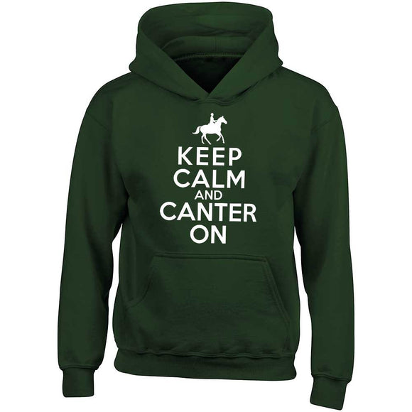 Keep Calm And Canter On Child's Horse Motif Hoodie