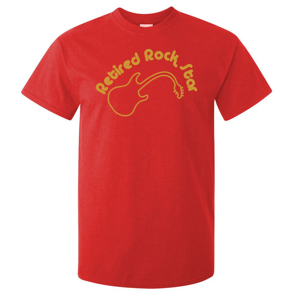 Retired Rock Star Fun Adults Band T-Shirt