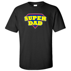Superdad Motif Fun T-Shirt For Dad