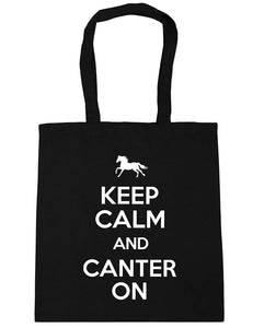 Keep Calm and Canter On Horse Riding Tote Shopping Bag