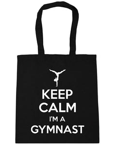 Keep Calm I'm a Gymnast Gymnastics Tote Shopping Bag