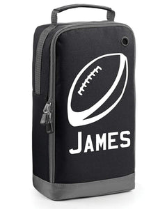 Children's Personalised Rugby Ball Boot Bag