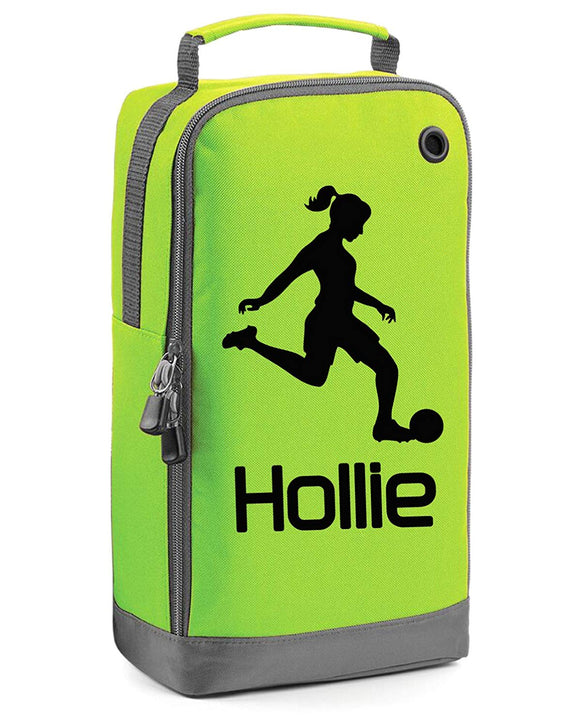 Girls Personalised Football Boot Bag
