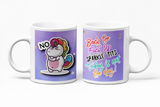 Back The Fuck Up Sparkle Tits Rude Unicorn Mug