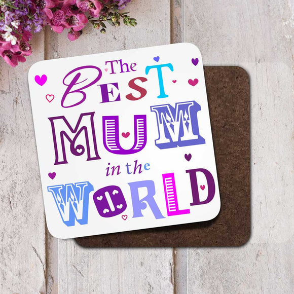 The Best Mum in the World Coaster