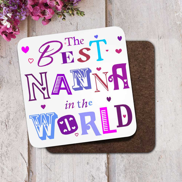 The Best Nanna in the World Coaster